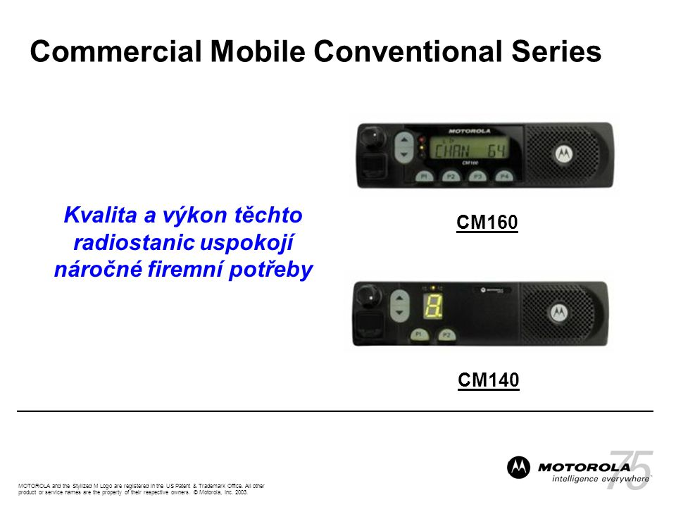 MOTOROLA and the Stylized M Logo are registered in the US Patent & Trademark Office.