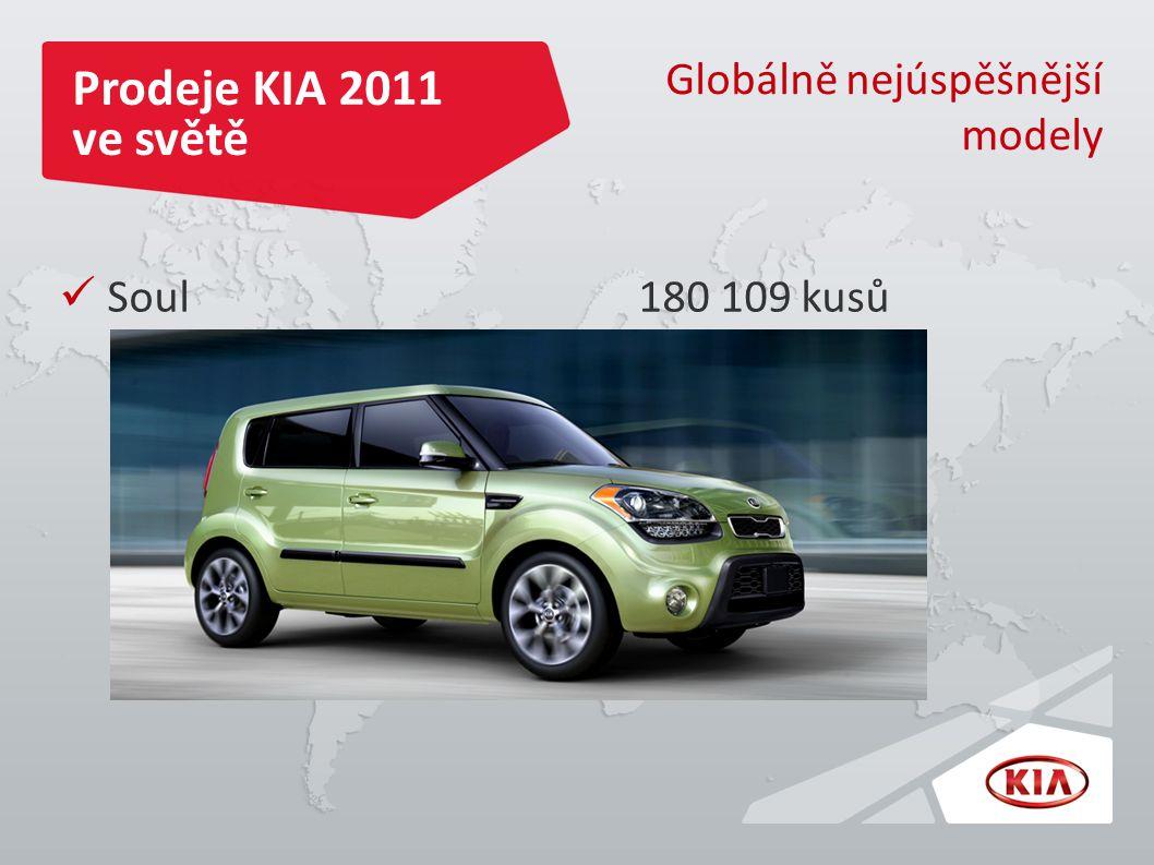 Prodeje KIA 2011 ve světě Globálně nejúspěšnější modely Soul 180 109 kusů