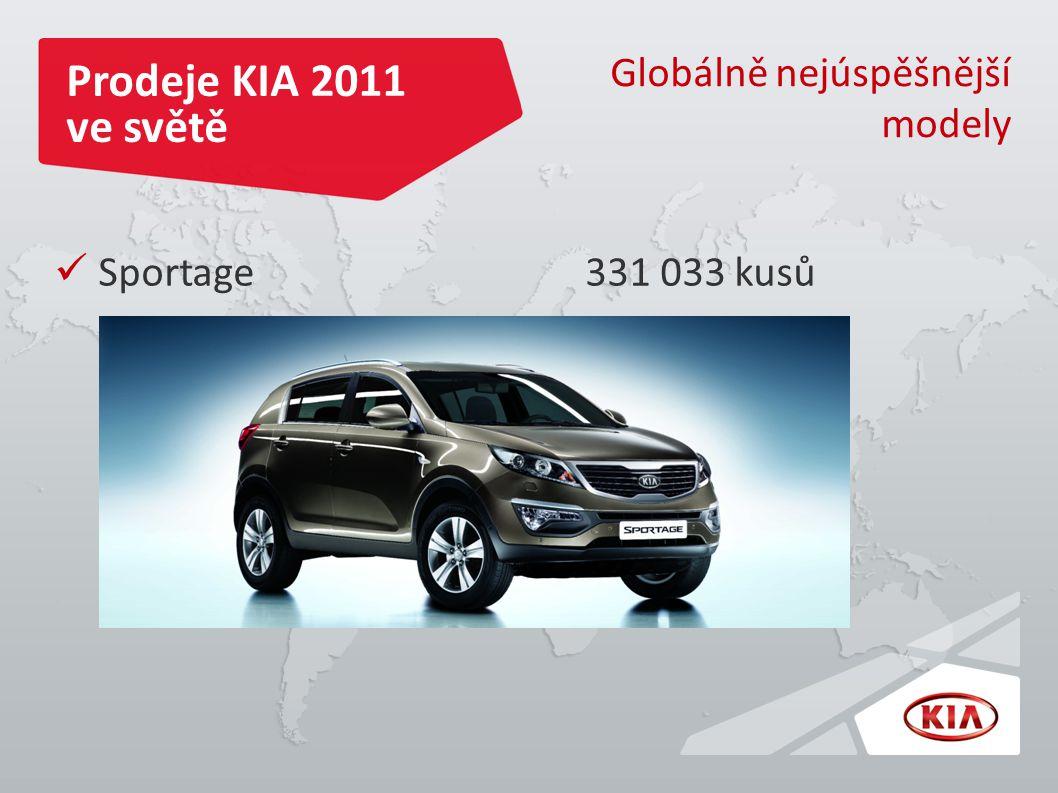 Prodeje KIA 2011 ve světě Globálně nejúspěšnější modely Sportage 331 033 kusů