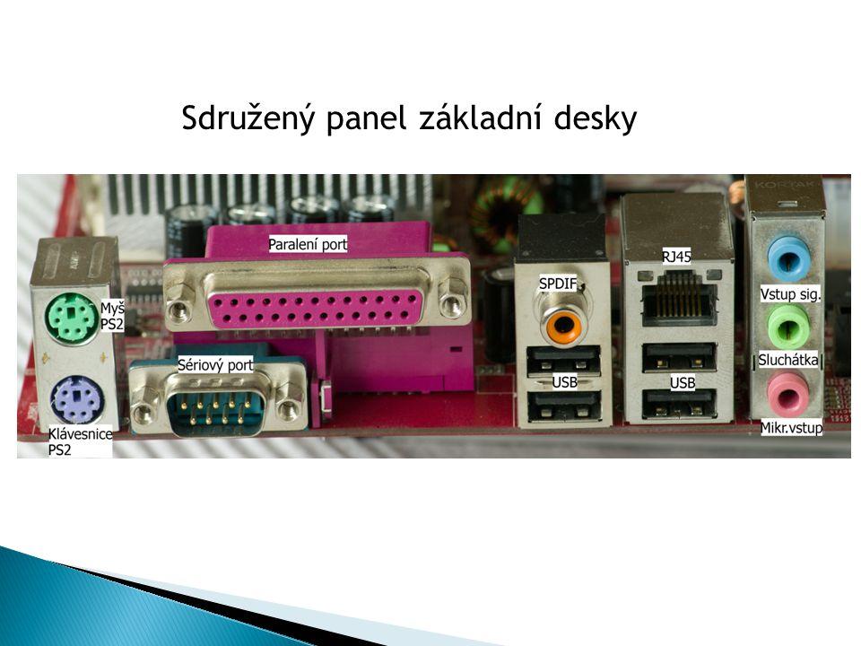 Většina základních desek obsahuje tyto součásti: patice (socket) pro připojení procesoru čipovou sadu flash paměť obsahující BIOS + baterie paměťové banky (konektory) pro moduly operační paměti řadiče a sloty sběrnice PCI, AGP, PCI-Express rozhraní, řadiče disků (ATA,SATA, RAID), integrované přídavné součásti: síťové, grafické, zvukové řadiče univerzálních rozhraní (PS/2, USB, FireWire (IEEE1394), RS-232 (sériový port), Centronics (paralelní port LPT pro připojení tiskárny) konektory pro připojení spínaného napájecího zdroje