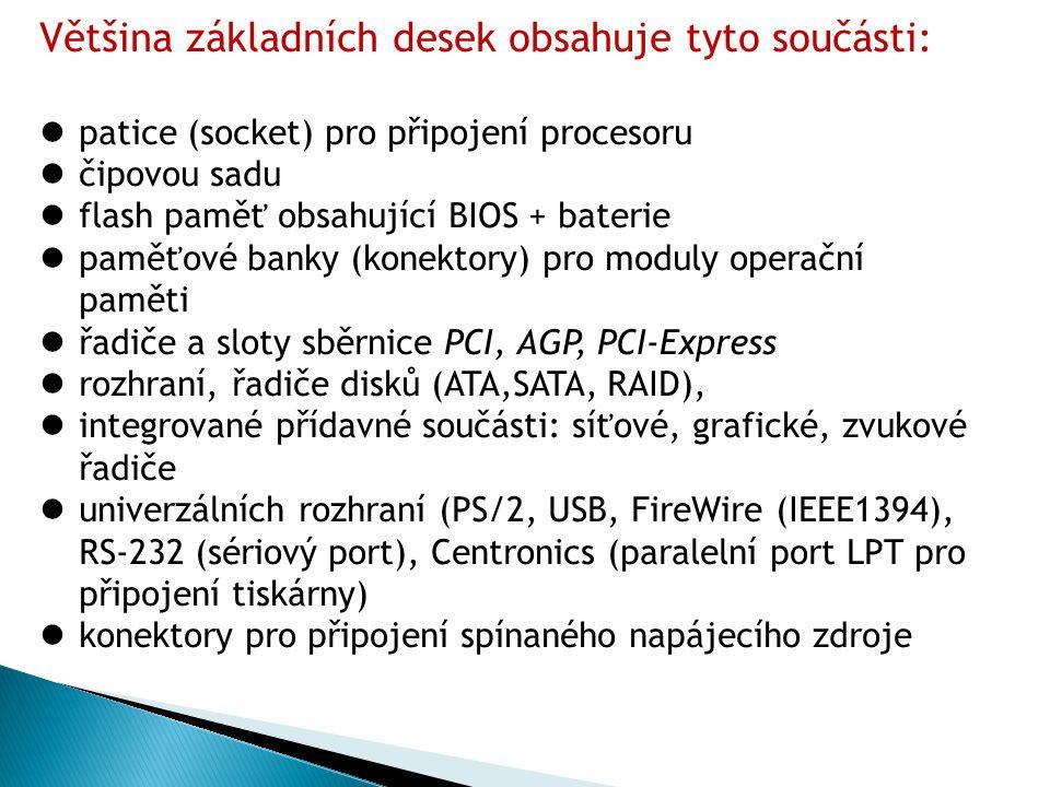 Softwarová výbava - ovladače (drivery) základní desky.