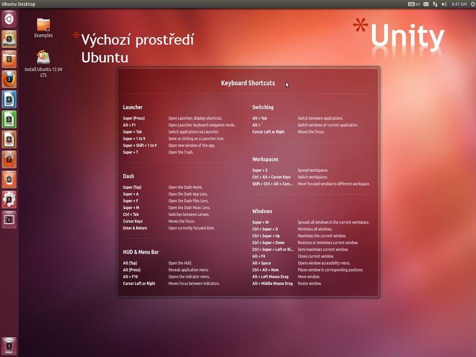 * Výchozí prostředí Ubuntu