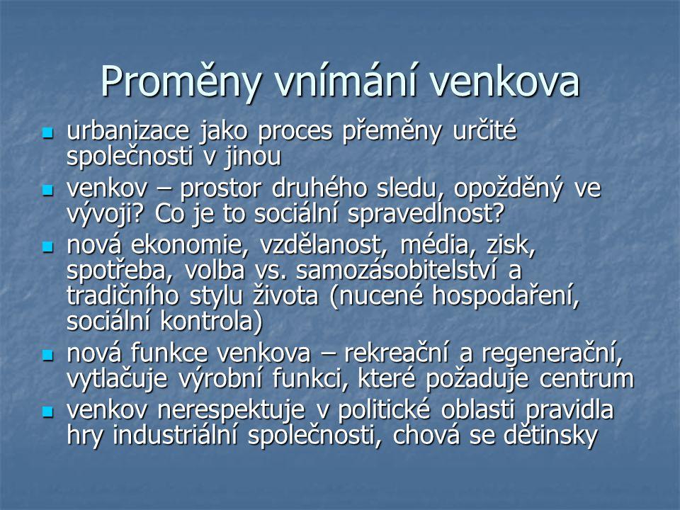 Venkovská společnost.má venkovská společnost šanci vyvíjet se podle vlastního schématu.