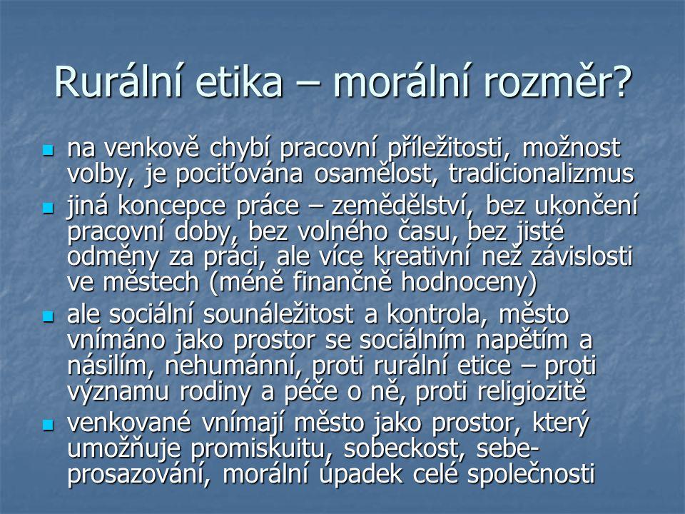 Rurální etika – morální rozměr.