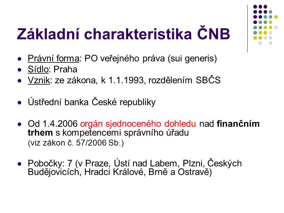 Hlavní cíl ČNB péče o cenovou stabilitu - podle článku 98 Ústavy ČR a zákona č.6/1993 Sb., o ČNB, ve znění pozdějších předpisů (x dříve: stabilita měny) Jak ČNB tento cíl naplňuje.