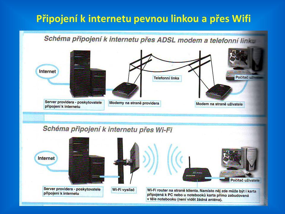 11 Připojení k internetu pevnou linkou a přes Wifi