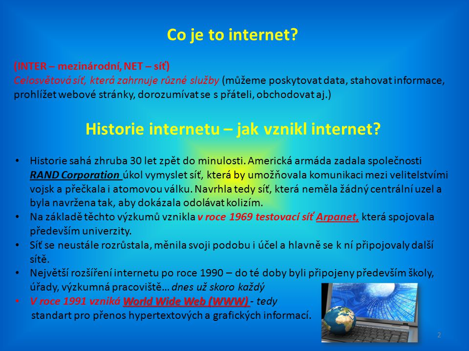 Jak vznikl internet