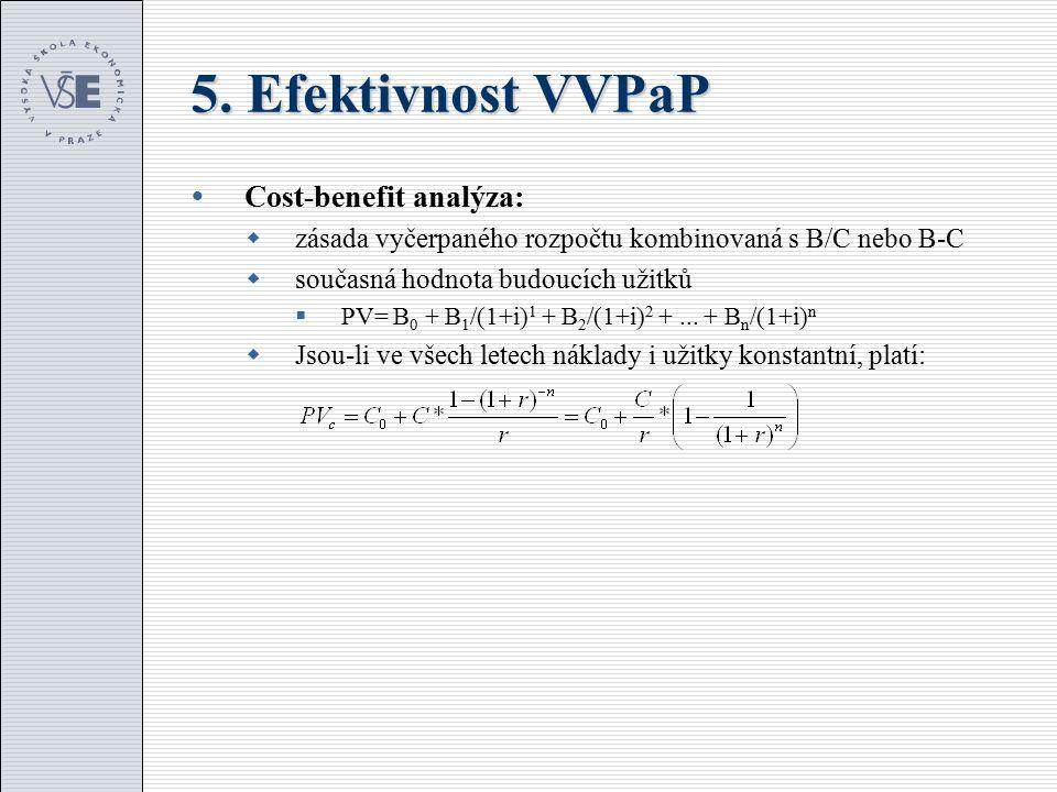 5.Efektivnost VVPaP  Co s vypočtenými výsledky.
