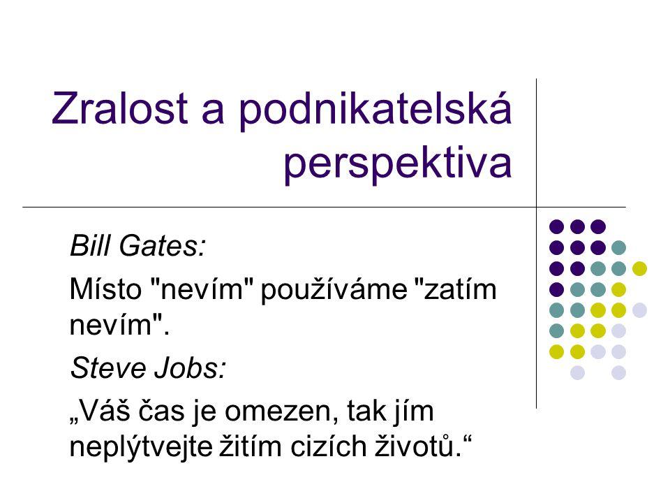 Zralost a podnikatelská perspektiva Bill Gates: Místo