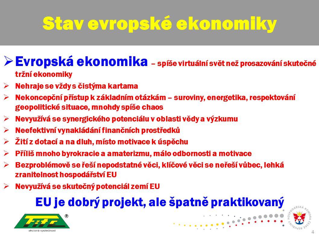 30. červenec 2009 4  Evropská ekonomika – spíše virtuální svět než prosazování skutečné tržní ekonomiky  Nehraje se vždy s čistýma kartama  Nekonce