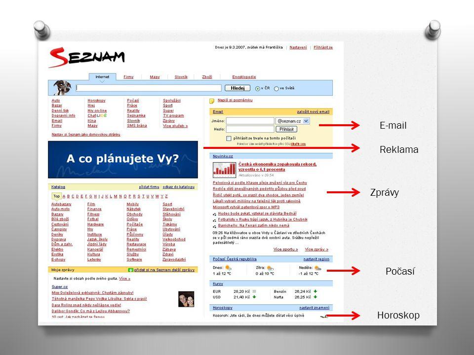 E-mail Reklama Zprávy Počasí Horoskop