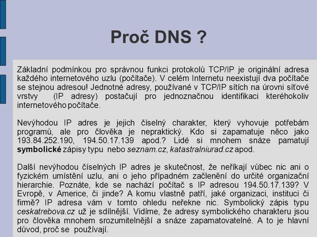 Proč DNS .