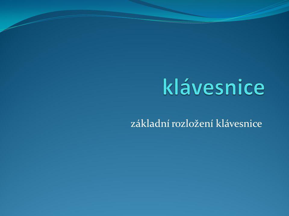 Klávesnice určeno pro: žáky 6. tříd autor: Kopřiva Jiří (9.6. 2012) ZŠ a ZUŠ Bezdrevská 3, České Budějovice VY_32_INOVACE_č. 001-010[CZ.1.07/1.4.00/21