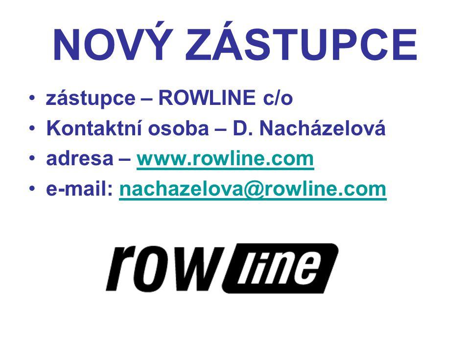 NOVÝ ZÁSTUPCE zástupce – ROWLINE c/o Kontaktní osoba – D.