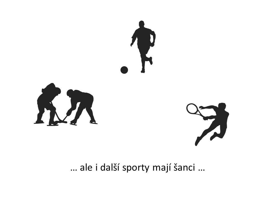 … ale i další sporty mají šanci …