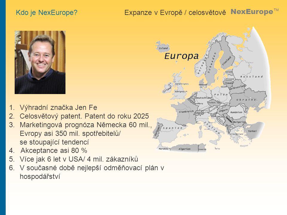 NexEurope TM 1.Výhradní značka Jen Fe 2.Celosvětový patent.