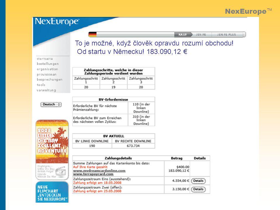NexEurope TM To je možné, když člověk opravdu rozumí obchodu! Od startu v Německu! 183.090,12 €
