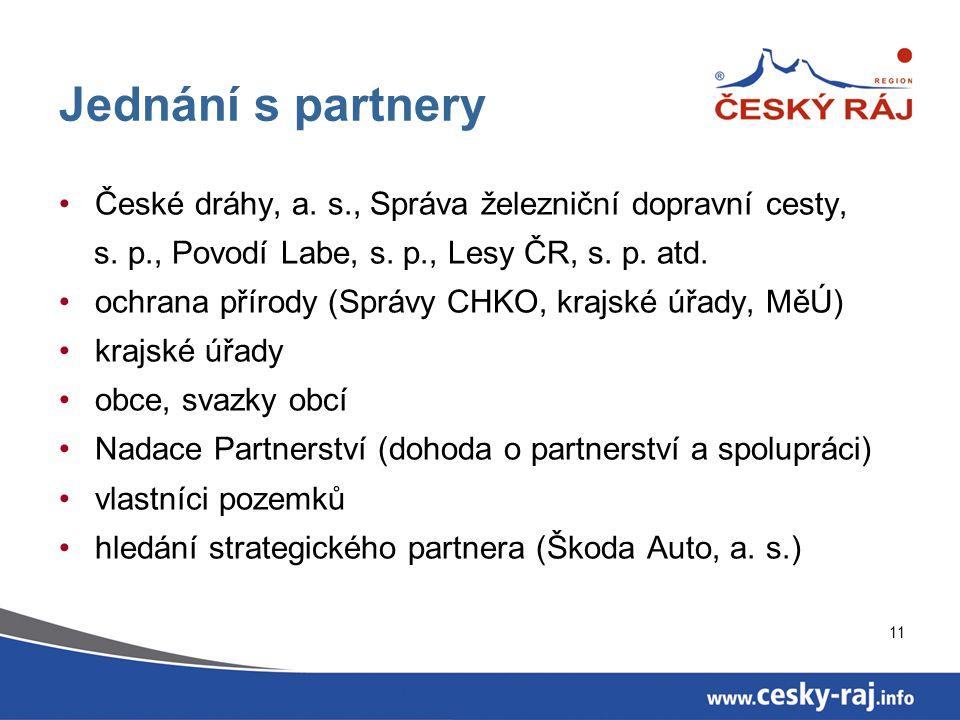 11 Jednání s partnery České dráhy, a. s., Správa železniční dopravní cesty, s.