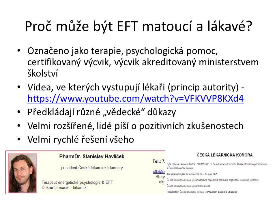 Proč může být EFT matoucí a lákavé? Označeno jako terapie, psychologická pomoc, certifikovaný výcvik, výcvik akreditovaný ministerstvem školství Videa