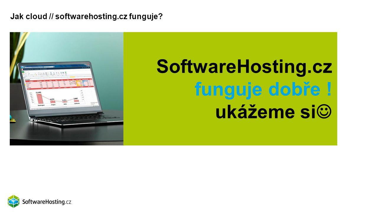 Jak cloud // softwarehosting.cz funguje? SoftwareHosting.cz funguje dobře ! ukážeme si