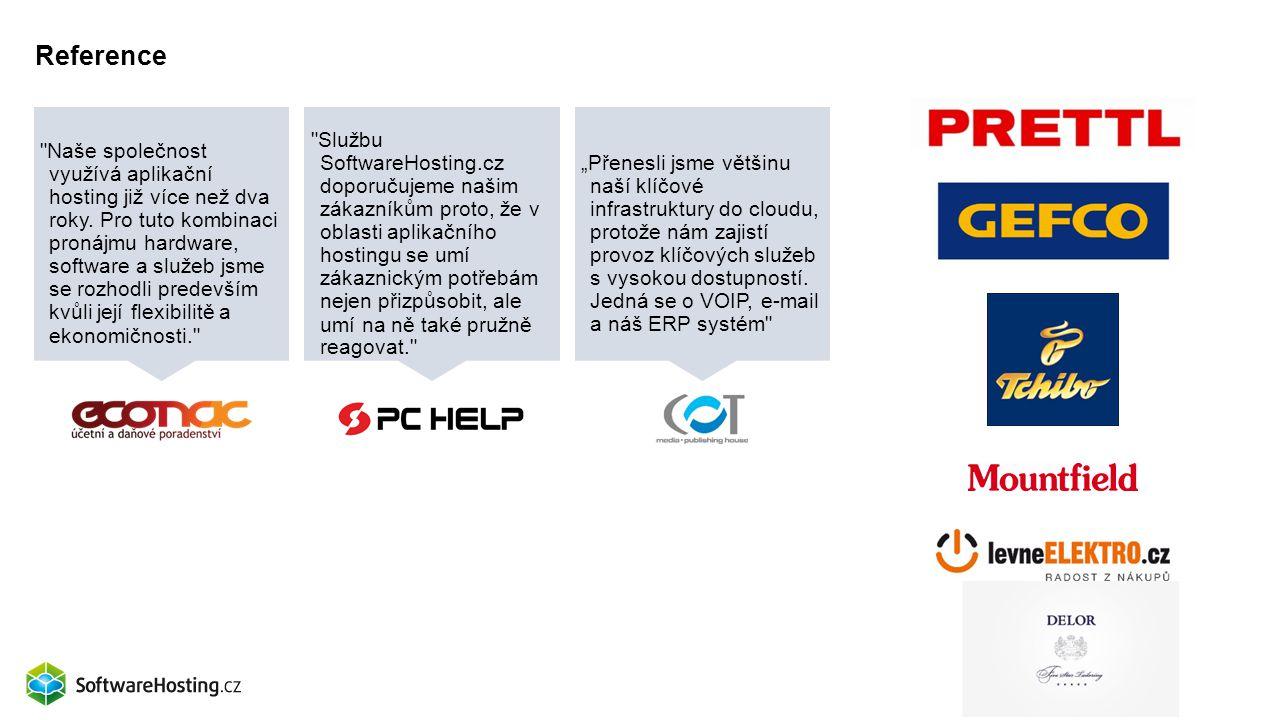 Reference Naše společnost využívá aplikační hosting již více než dva roky.