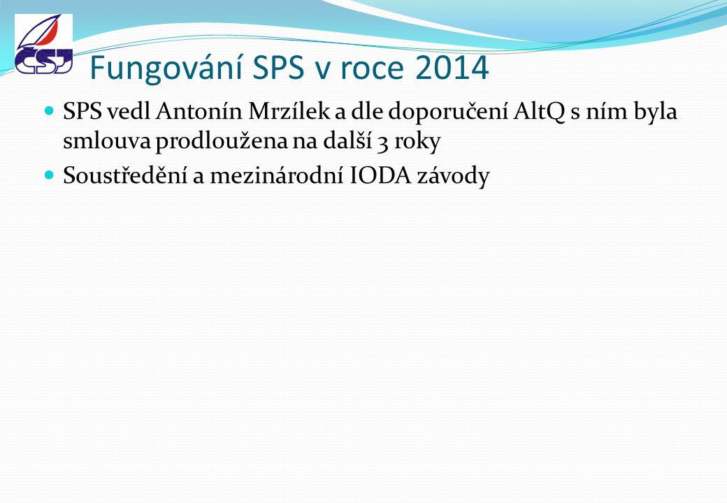 Fungování SPS v roce 2014 SPS vedl Antonín Mrzílek a dle doporučení AltQ s ním byla smlouva prodloužena na další 3 roky Soustředění a mezinárodní IODA závody