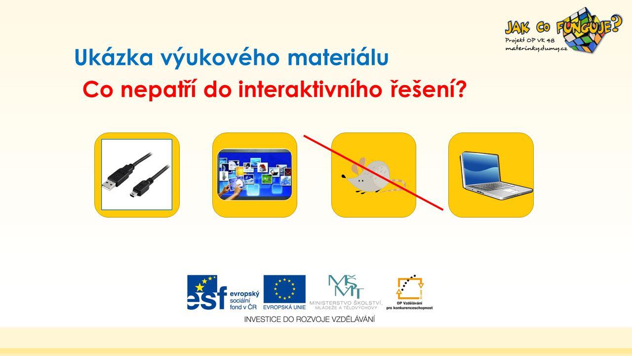 Ukázka výukového materiálu Co nepatří do interaktivního řešení?