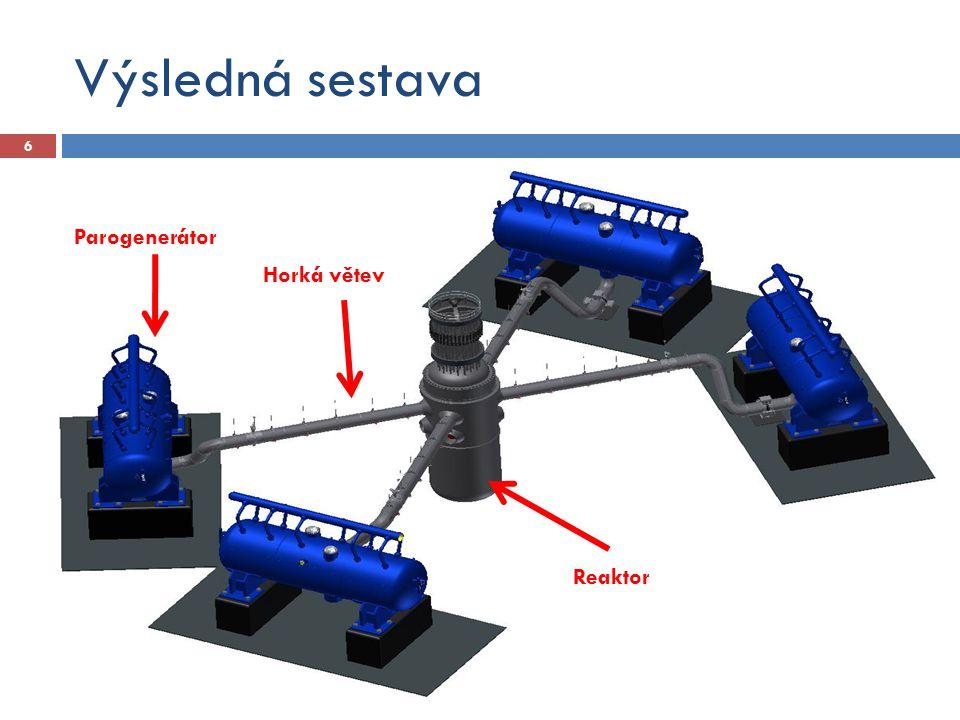 Výsledná sestava 6 Parogenerátor Reaktor Horká větev