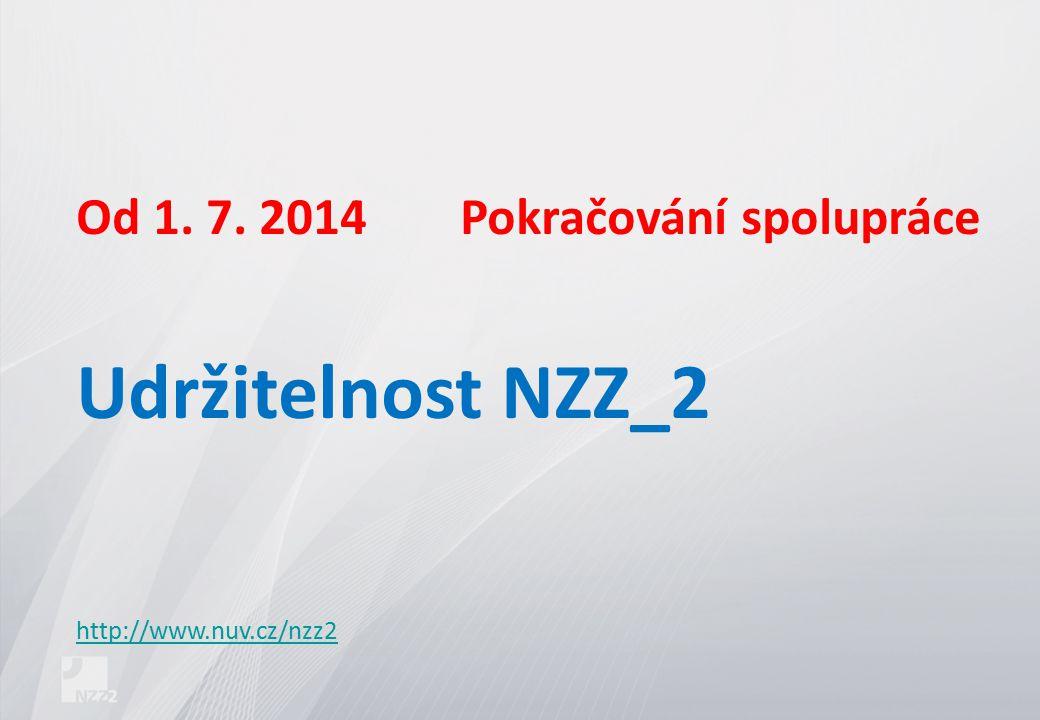 Od 1. 7. 2014Pokračování spolupráce Udržitelnost NZZ_2 http://www.nuv.cz/nzz2