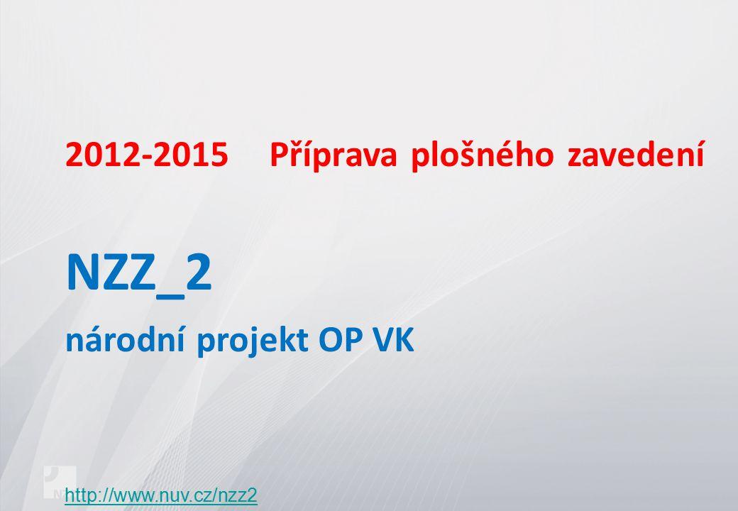2012-2015Příprava plošného zavedení NZZ_2 národní projekt OP VK http://www.nuv.cz/nzz2