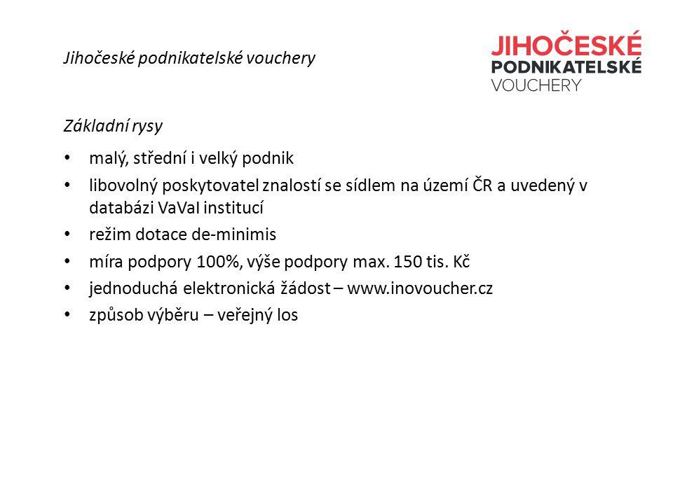 Základní rysy malý, střední i velký podnik libovolný poskytovatel znalostí se sídlem na území ČR a uvedený v databázi VaVaI institucí režim dotace de-