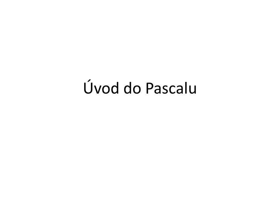 Úvod do Pascalu