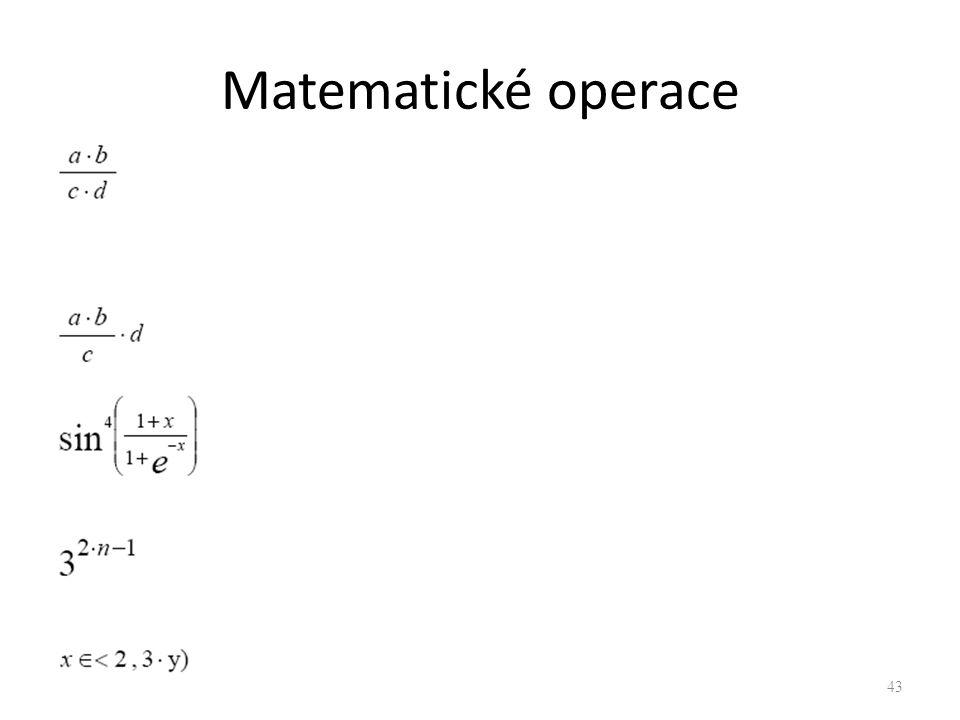 Matematické operace 43
