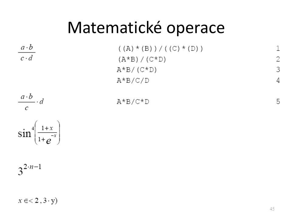 Matematické operace 45