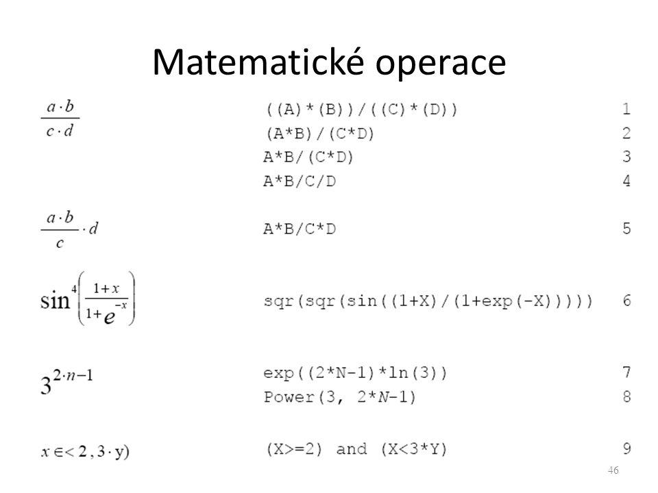 Matematické operace 46