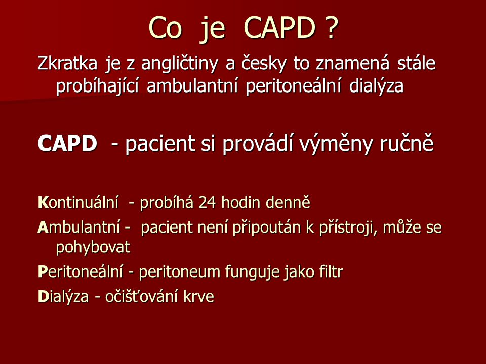 Co je CAPD .