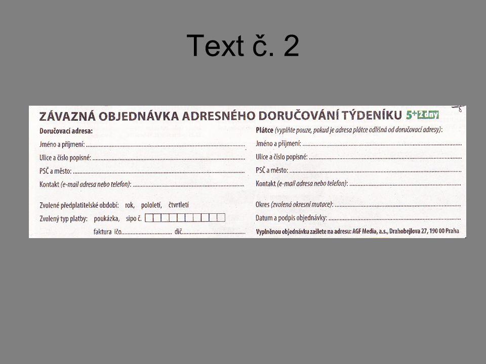 Text č. 2