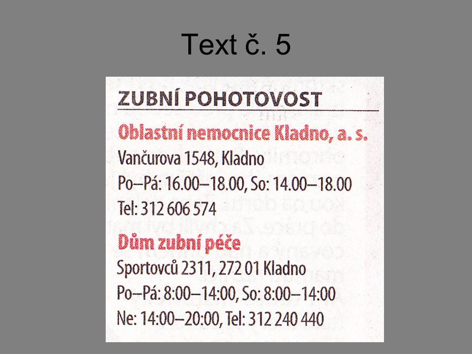 Text č. 5