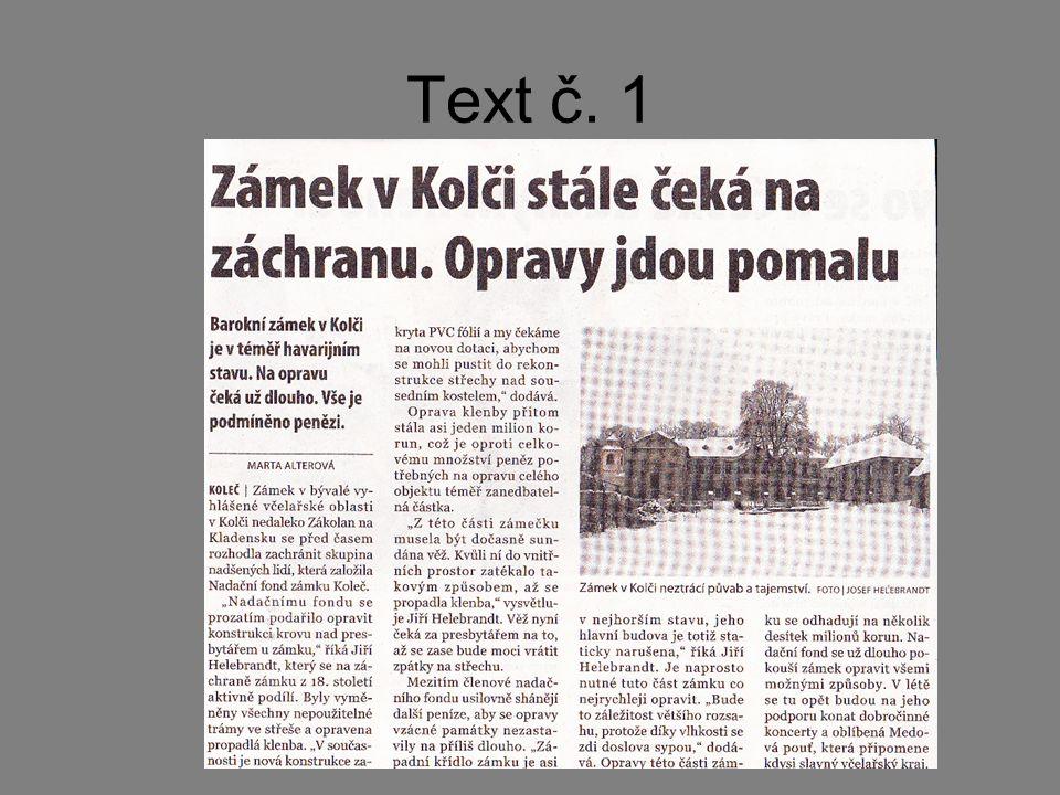 Text č. 1