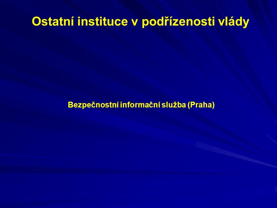 Ostatní instituce v podřízenosti vlády Bezpečnostní informační služba (Praha)
