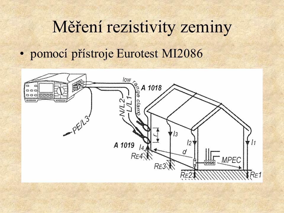 Měření rezistivity zeminy pomocí přístroje Eurotest MI2086