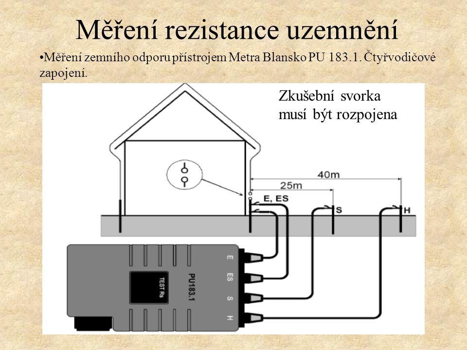 Měření zemního odporu přístrojem Metra Blansko PU 183.1.