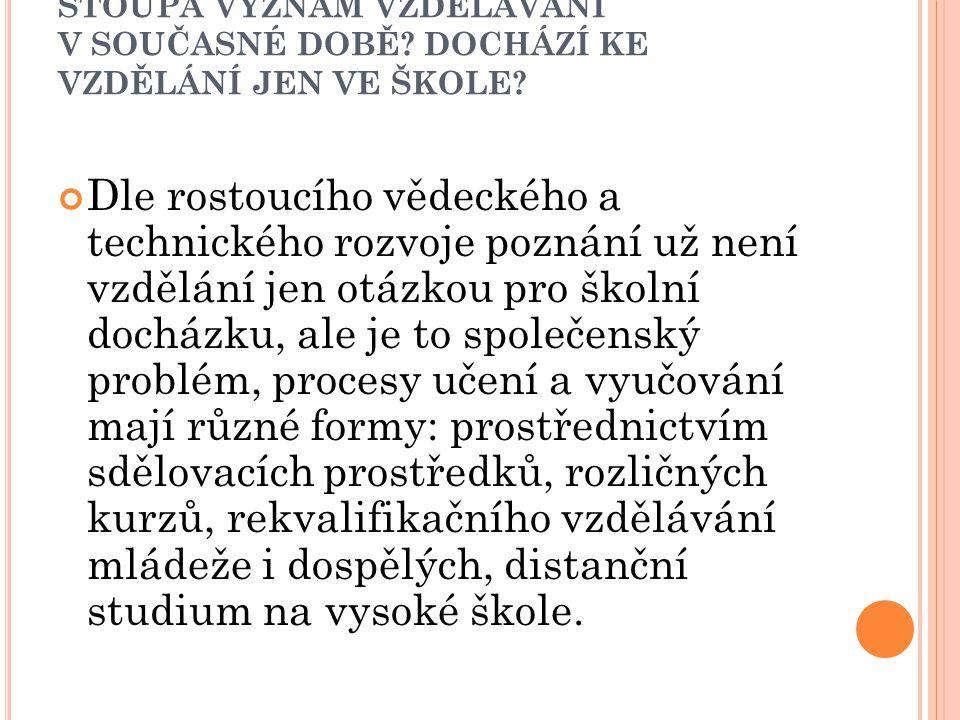L ZE DIDAKTIKU ODDĚLOVAT OD PEDAGOGIKY .
