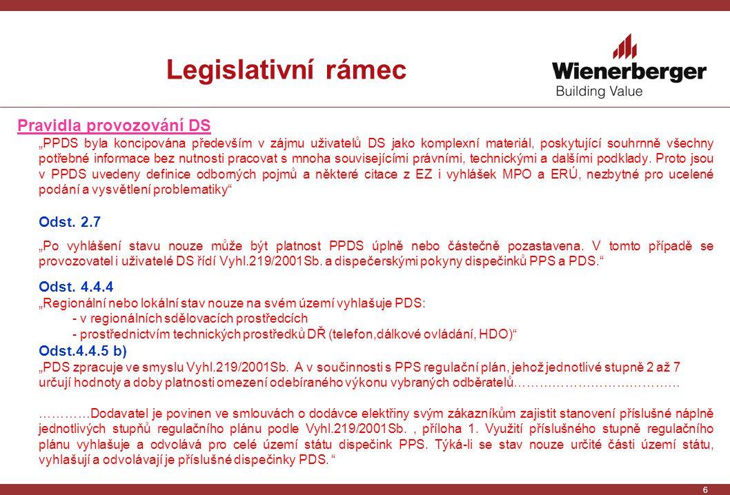 """6 Legislativní rámec Pravidla provozování DS """"PPDS byla koncipována především v zájmu uživatelů DS jako komplexní materiál, poskytující souhrnně všechny potřebné informace bez nutnosti pracovat s mnoha souvisejícími právními, technickými a dalšími podklady."""