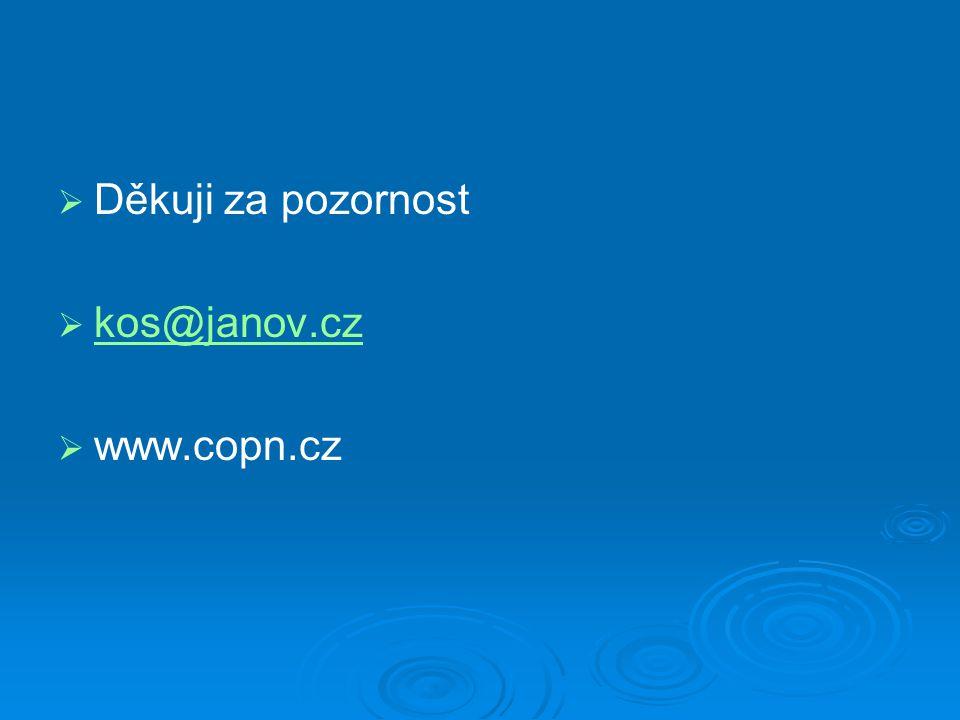   Děkuji za pozornost   kos@janov.cz kos@janov.cz   www.copn.cz