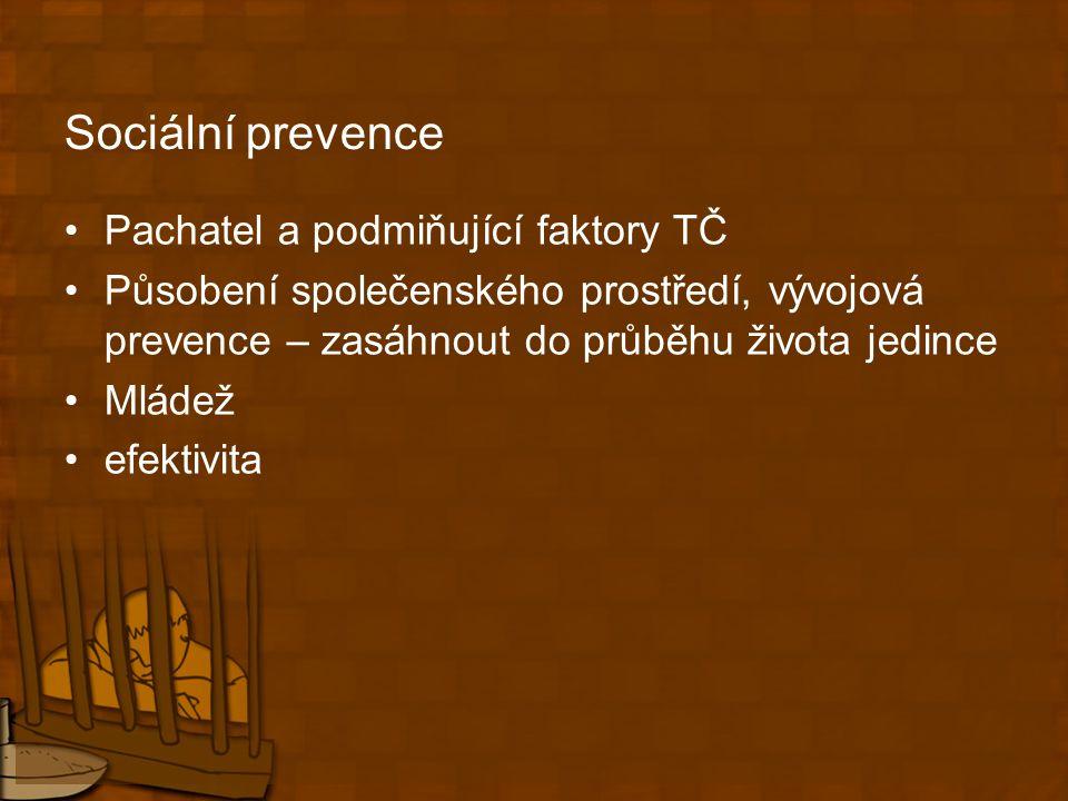 Problémy trestu odnětí svobody - izolace Vysoké náklady Dočasnost Prizonizace (D.