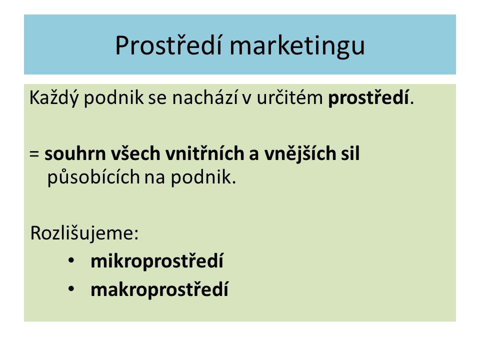 Prostředí marketingu Podnik