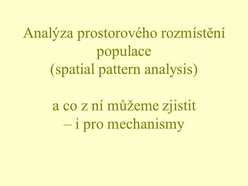 Analýza prostorového rozmístění populace (spatial pattern analysis) a co z ní můžeme zjistit – i pro mechanismy