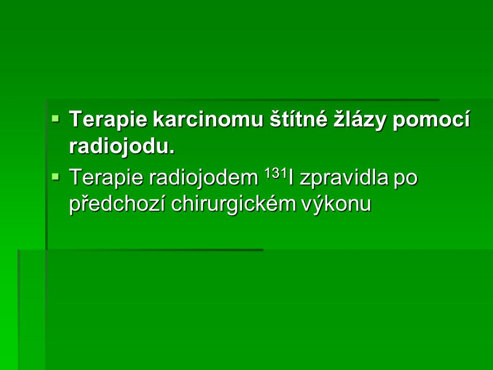 Počet SPECT vyšetření v ČR