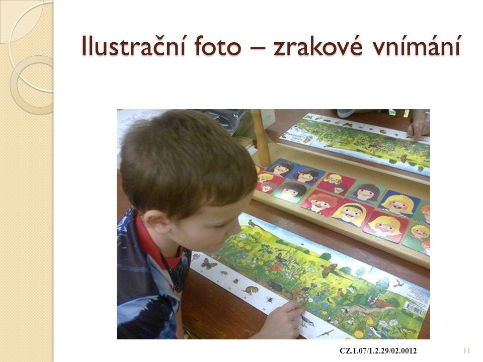 Ilustrační foto – zrakové vnímání CZ.1.07/1.2.29/02.0012 11